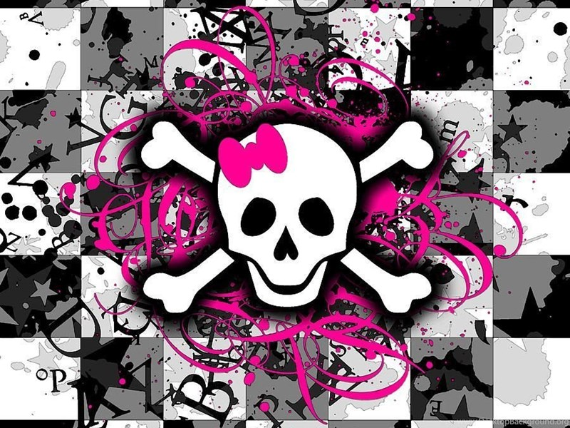 Girly skull background wallpaper girly skull backgrounds hd desktop background exif data voltagebd Choice Image