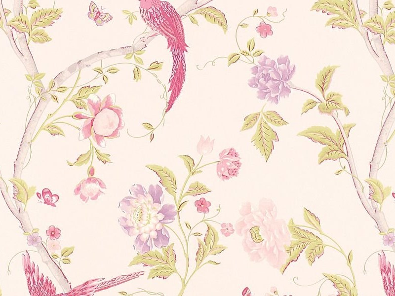 Summer Palace Cerise Floral Wallpapers At Laura Ashley Desktop