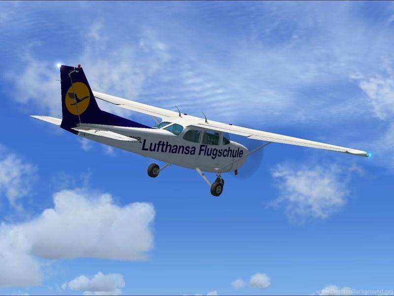 Lufthansa Flightschool Cessna 172 For FSX Desktop Background