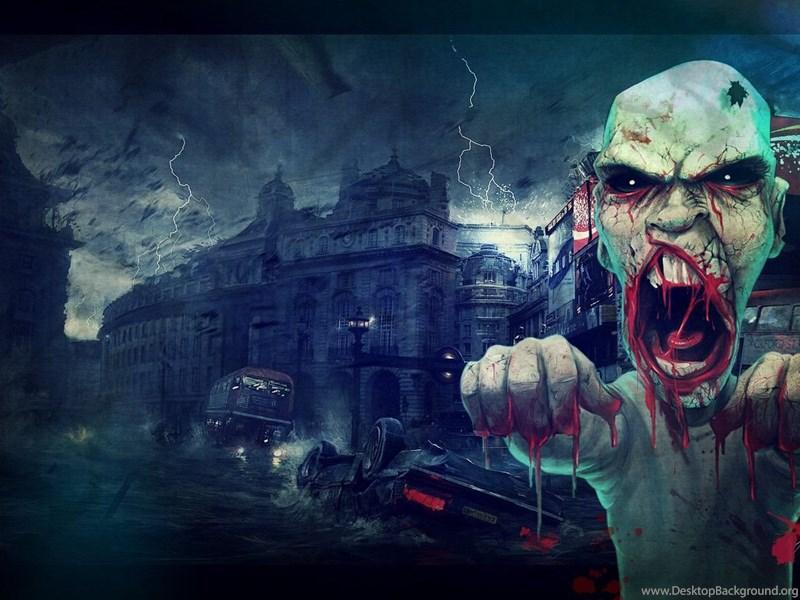 злой зомби картинка собираются