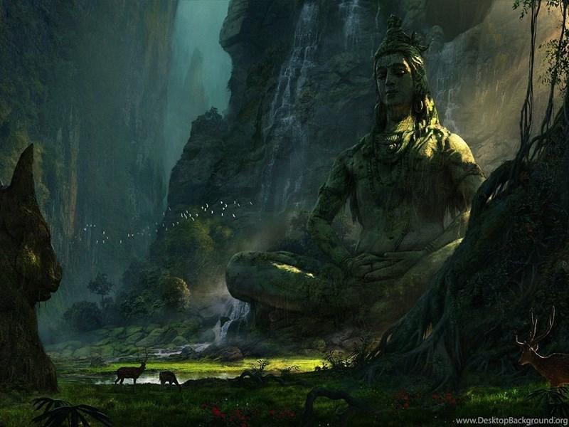 1366x768 Lord Shiva Desktop Background
