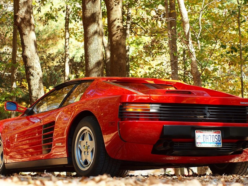 Download Wallpapers Ferrari Testarossa In The Wood 1920 X 1080 Desktop Background