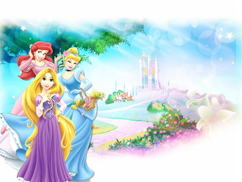 Arielcinderellarapunzel Wallpapers Disney Princess Wallpapers
