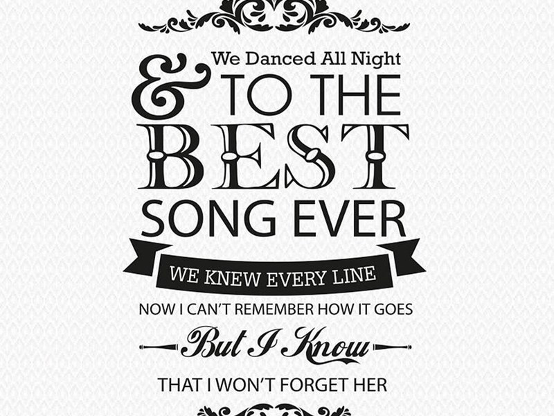 One Direction \'best Song Ever\' Wall Sticker By Wall Art ... Desktop ...