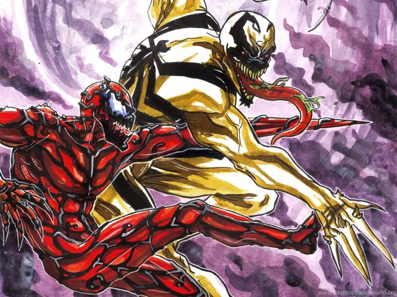 carnage vs anti venom wallpaper desktop background