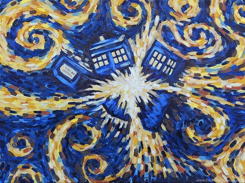 Doctor Who Wallpapers Tardis Van Gogh Desktop Background