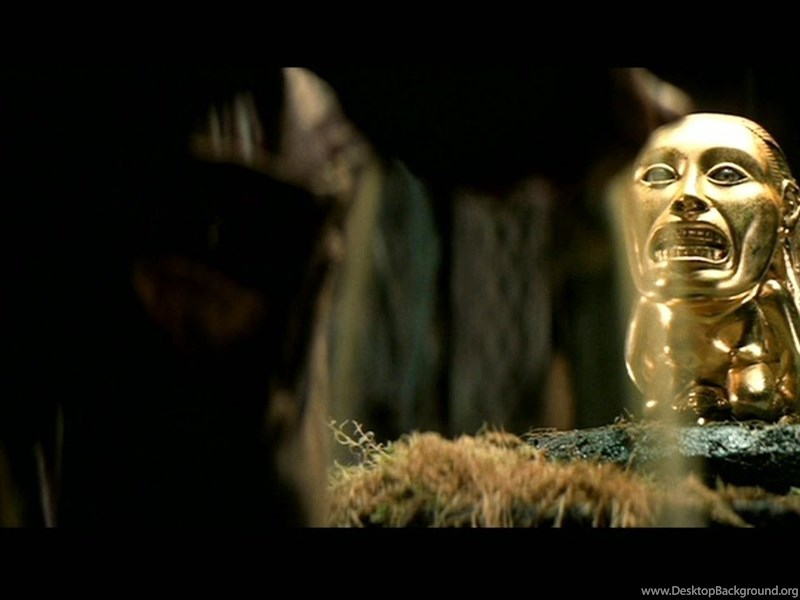 the golden idol from raiders of the lost ark 1981 desktop background
