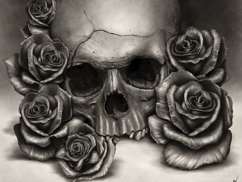 Skull Roses Wallpapers By Rodgerpister On Deviantart Desktop
