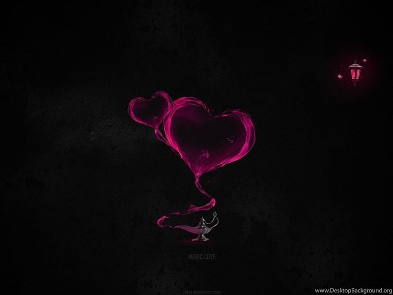 Abstract Love Heart Black Backgrounds Hd Wallpapers Desktop