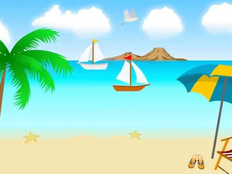 Animated Beach Scene Desktop Wallpaper: Animated Cartoon Beach Scene Backgrounds Video YouTube