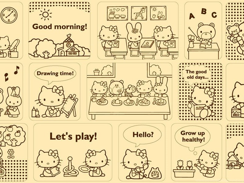 84 hello kitty and sanrio friends facebook timeline cover