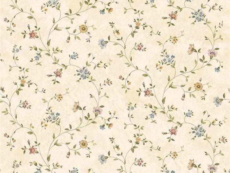 Cream Antique Floral Vine Wallpapers Interior Home Decor