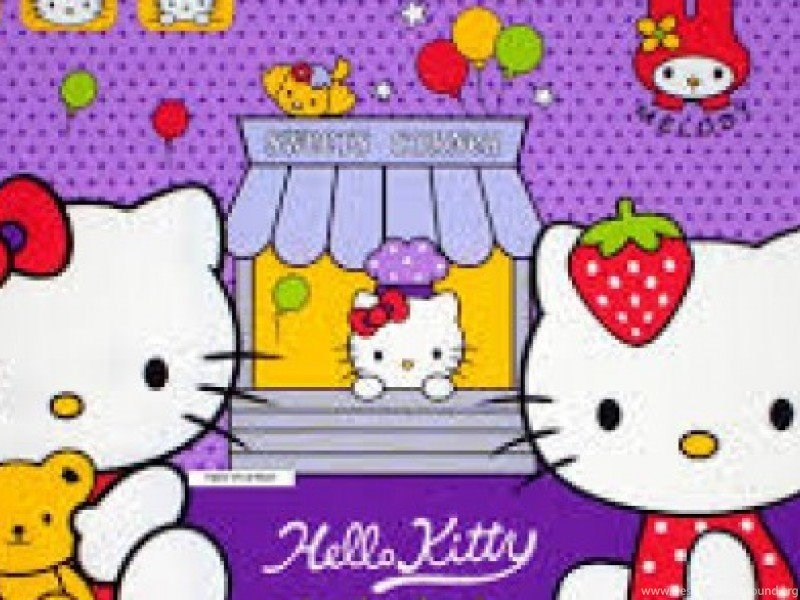 Gambar Wallpapers Hello Kitty Ungu Lucu Terbaru Dp Wallpapers