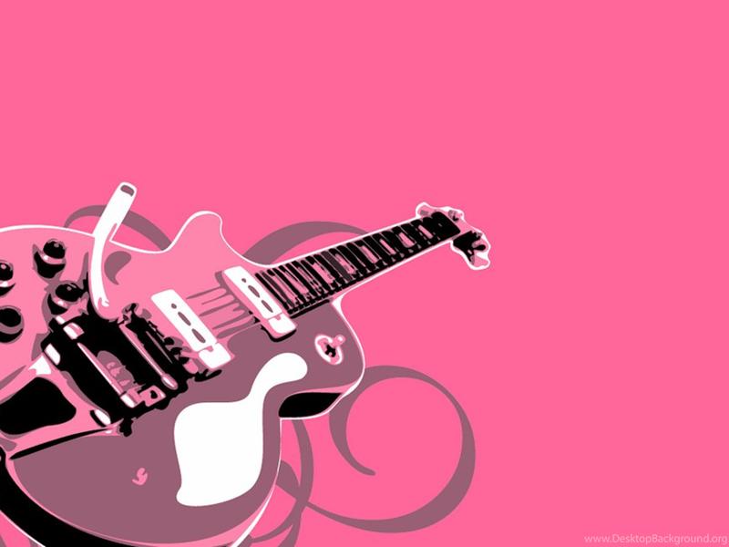 wallpaper music guitar pink - photo #5
