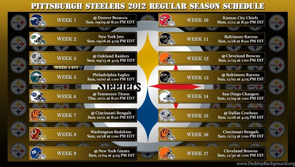 This is a picture of Steelers Printable Schedule intended for layout