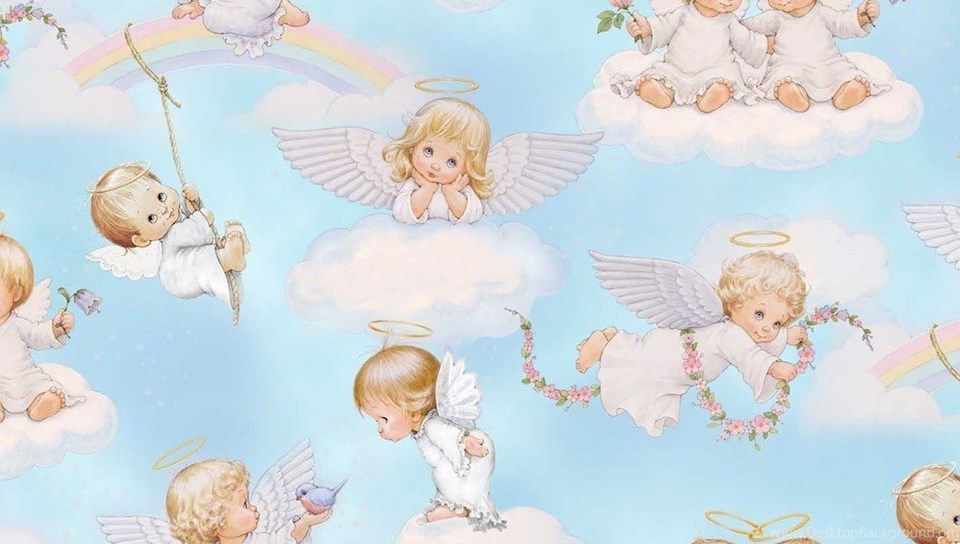 Justpict Com Baby Angels In Heaven Wallpapers Desktop