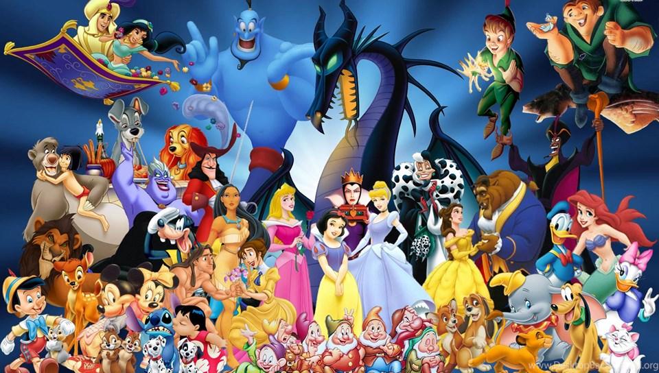 Disney Cartoon Characters Wallpaper Desktop Background