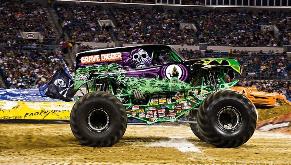 Monster Truck Videos Grave Digger Desktop Background