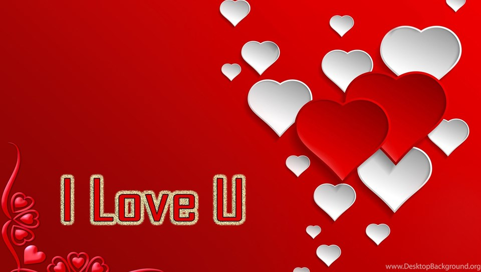 I Love U Colourful Hearts Deskrop Hd Wallpapers Large Hd Wallpapers