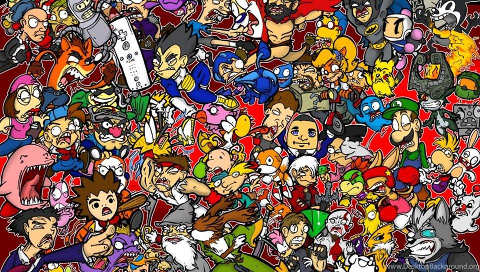 Nintendo Characters Drawing Wallpaper Desktop Background