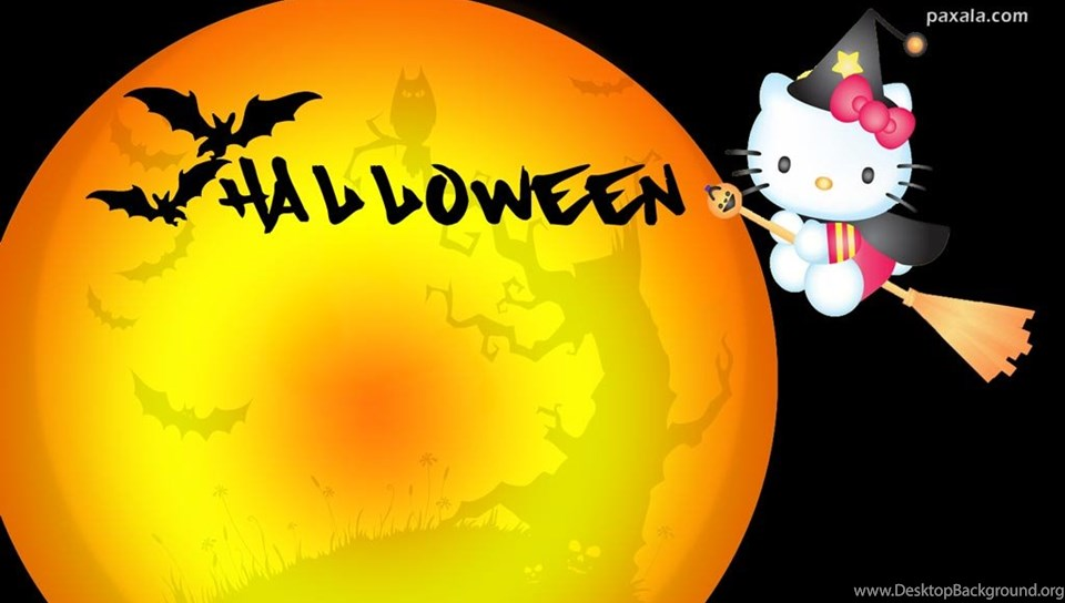 Free Hello Kitty Halloween Wallpaper Images Desktop Background