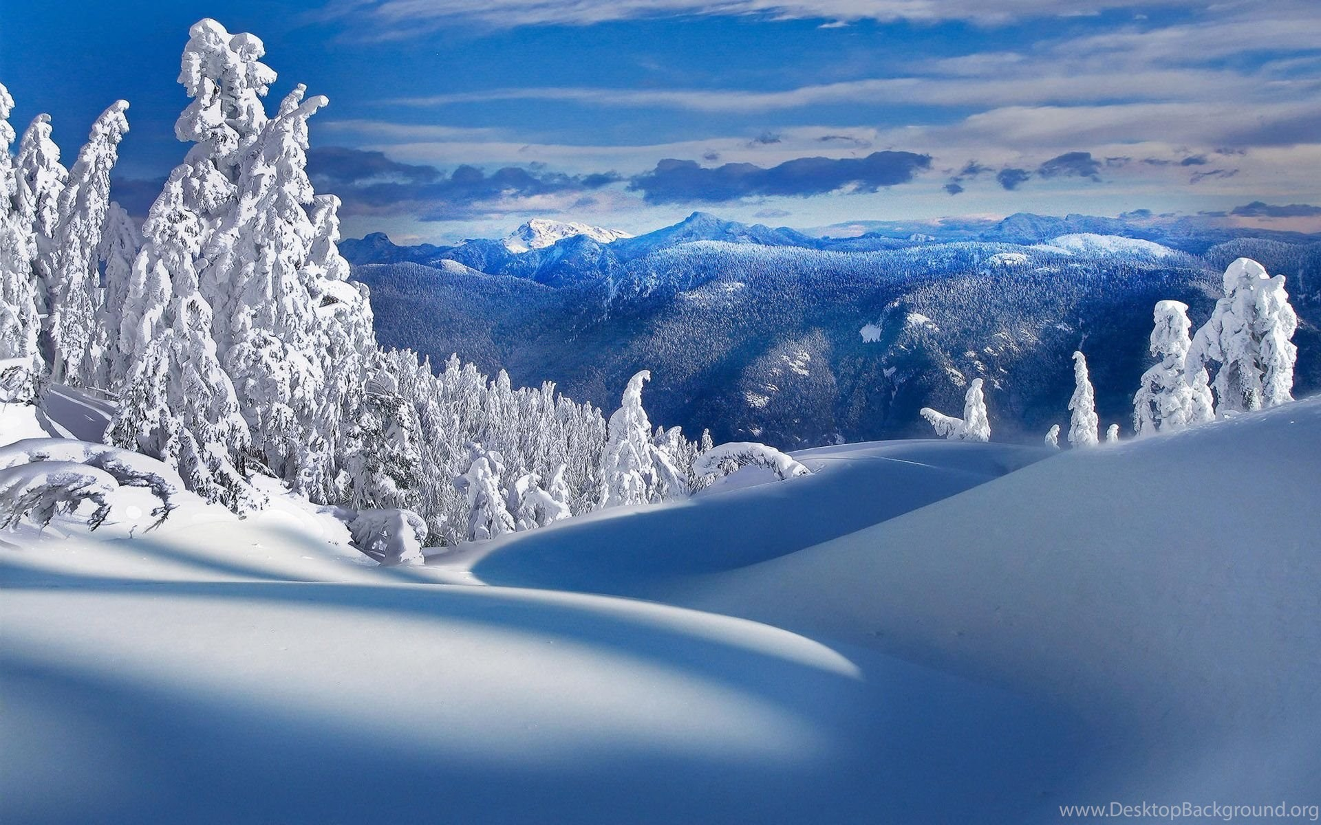 Christmas Landscape Desktop Wallpapers Beautiful Snow Pictures In HD ...