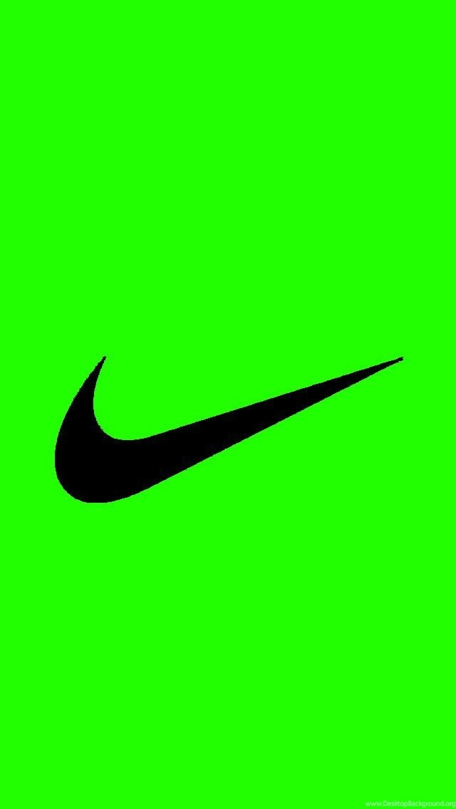 Bright Green Nike Logo IPhone 5 Wallpapers 640x1136 Desktop Background
