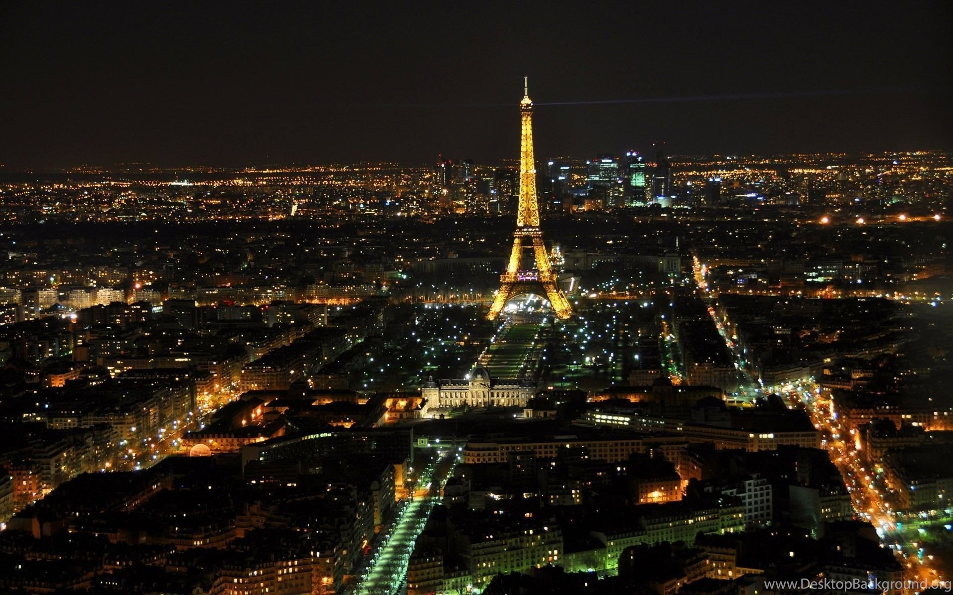 1920x1080 Wallpaper Eiffel Tower Paris France Night