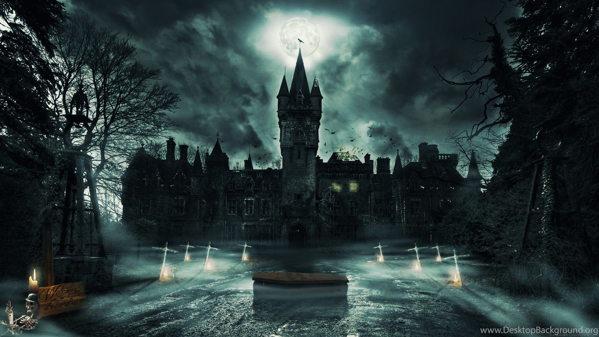 S Hd Image Wallpaper: Vampire Castle Wallpapers HD Resolution Desktop Background