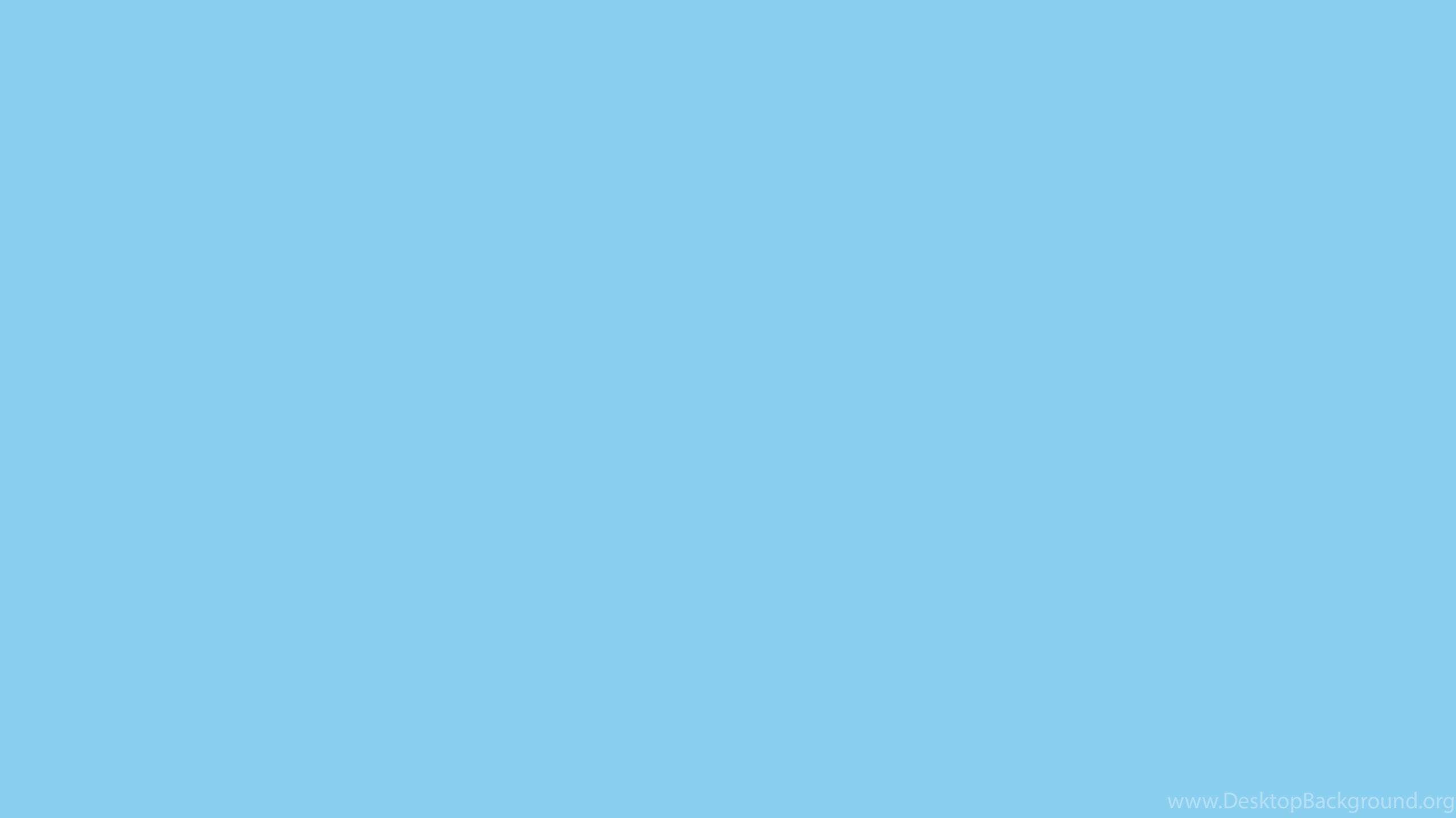 2560x1440 Baby Blue Solid Color Background Desktop