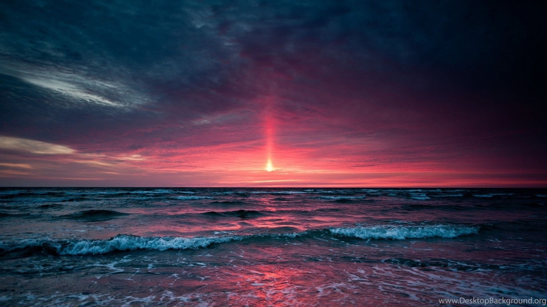 Ocean Sunset Hd Wallpaper Ocean Sunset Pictures New Wallpapers Desktop Background