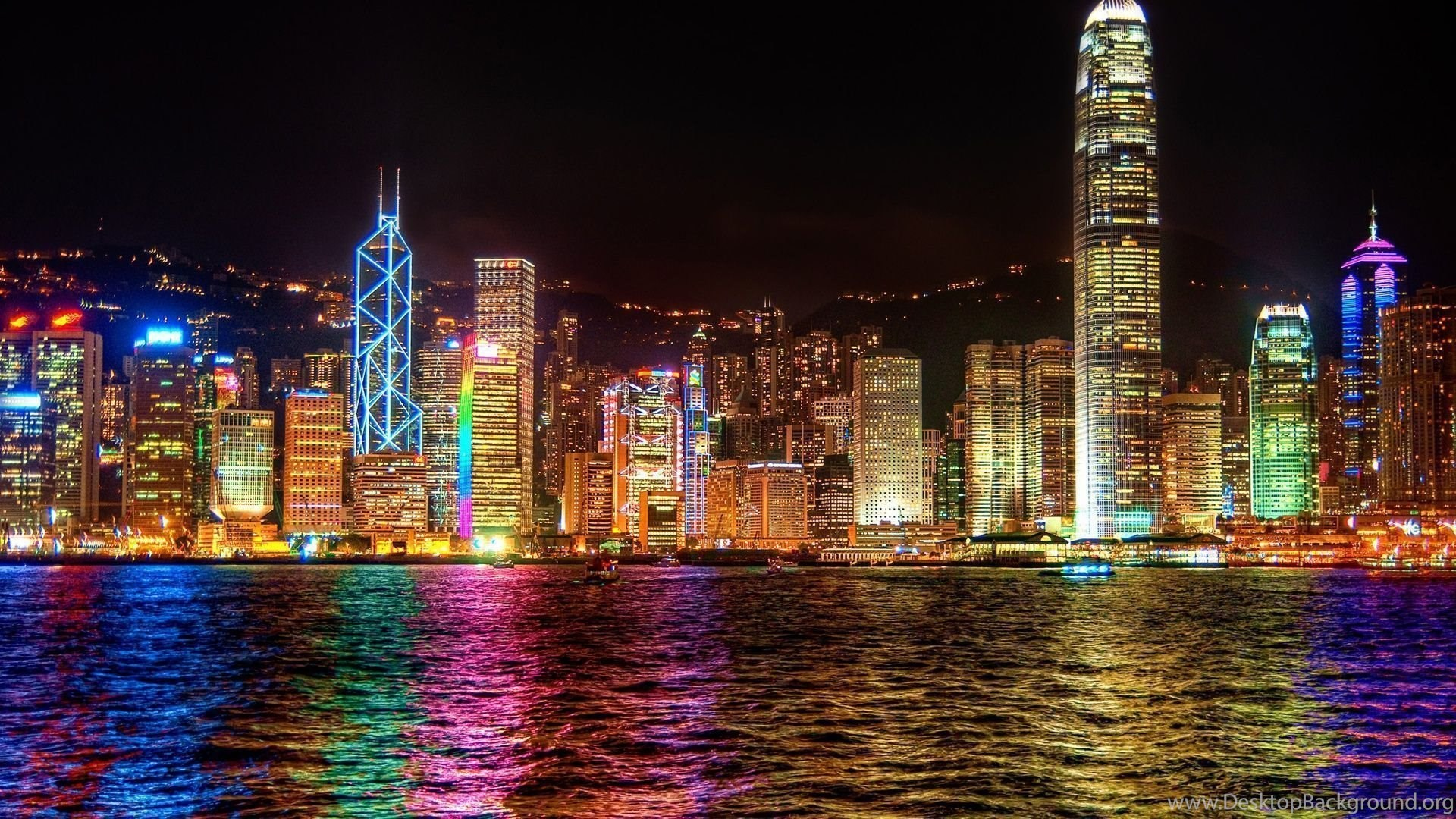 Night City Lights Wallpaper Hd Desktop Background