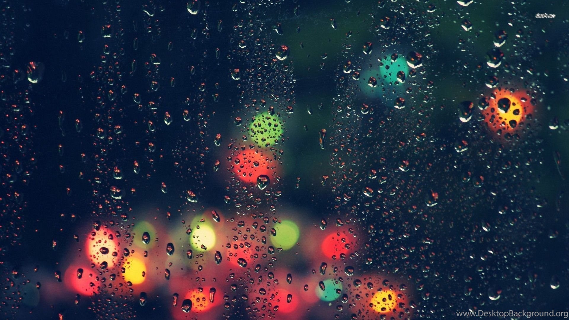 City Lights Beyond The Rainy Window Wallpapers Photography