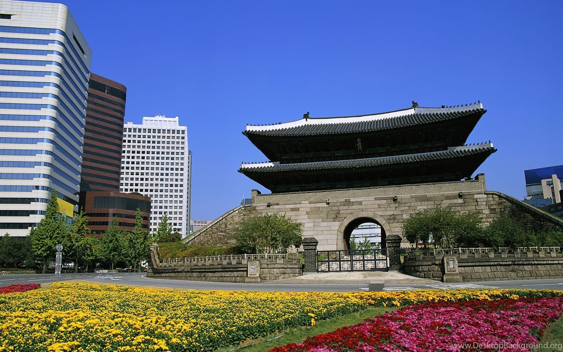 South Korea Temple Seoul Desktop Background