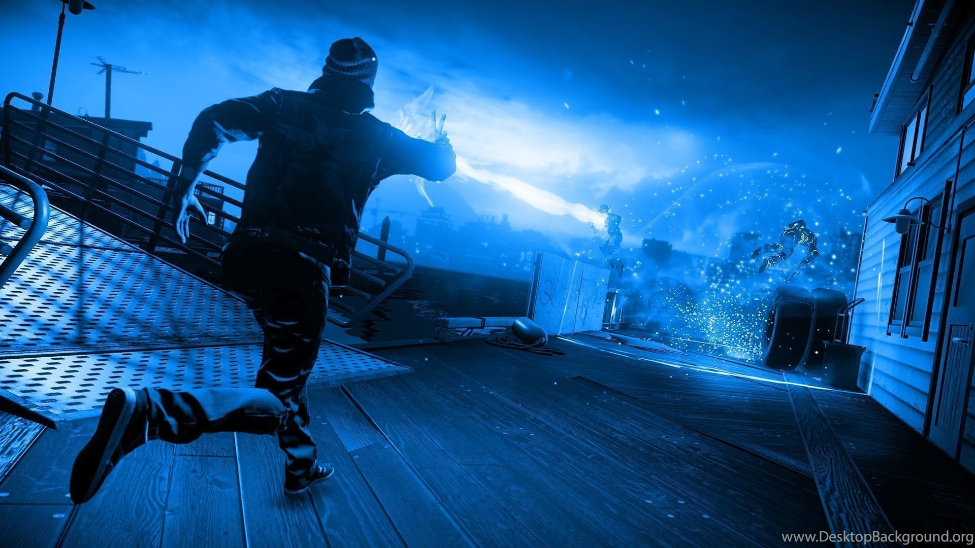Infamous Second Son Blue Neon Wallpapers 6 By Xtremismaster On