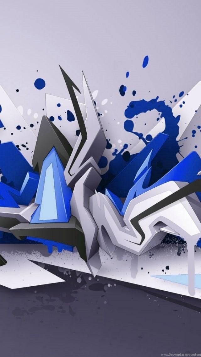 3d Graffiti IPhone 5 Wallpapers Desktop Background