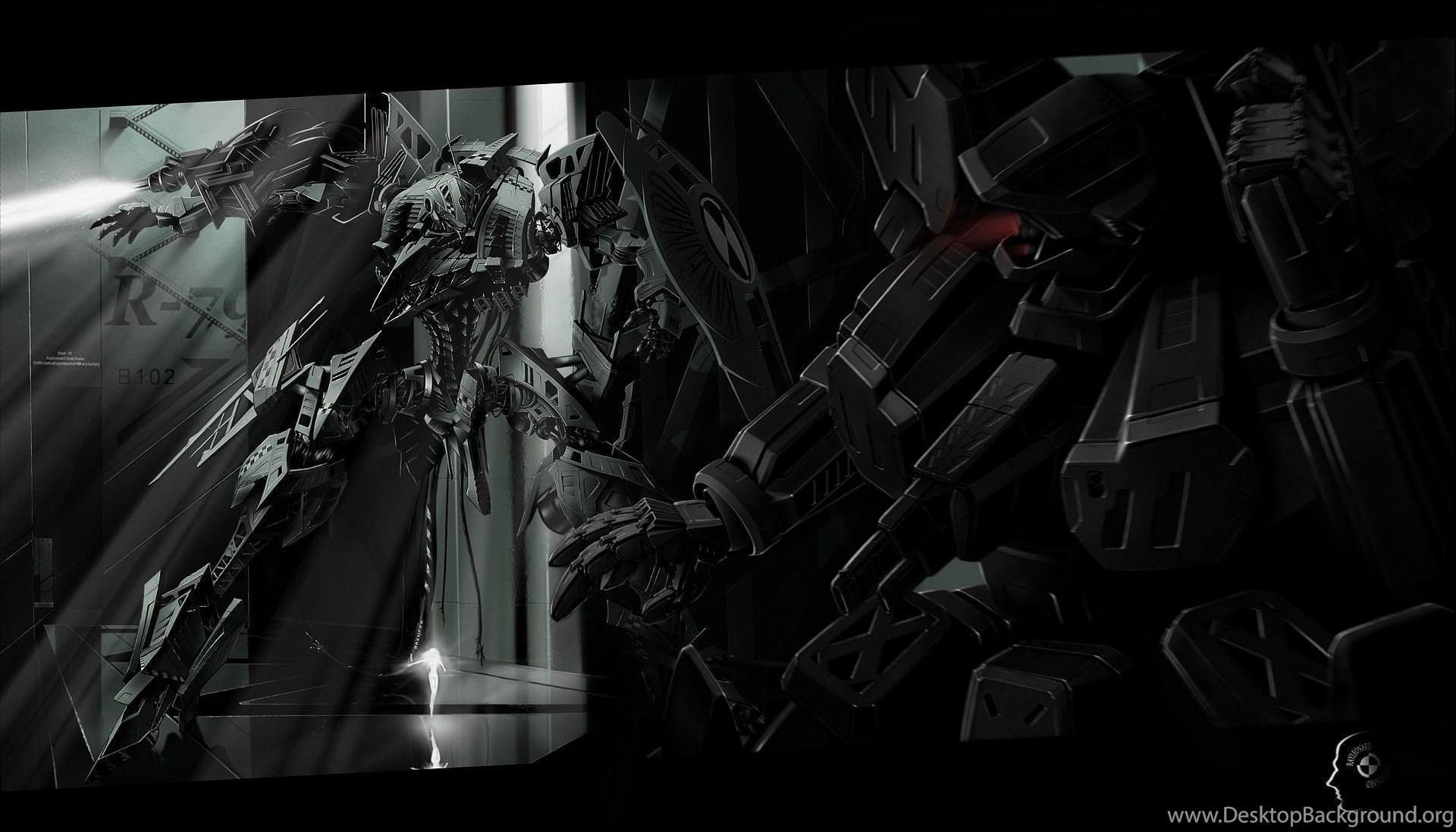 Dark mecha science fiction anime wallpapers desktop - Anime wallpaper black background ...