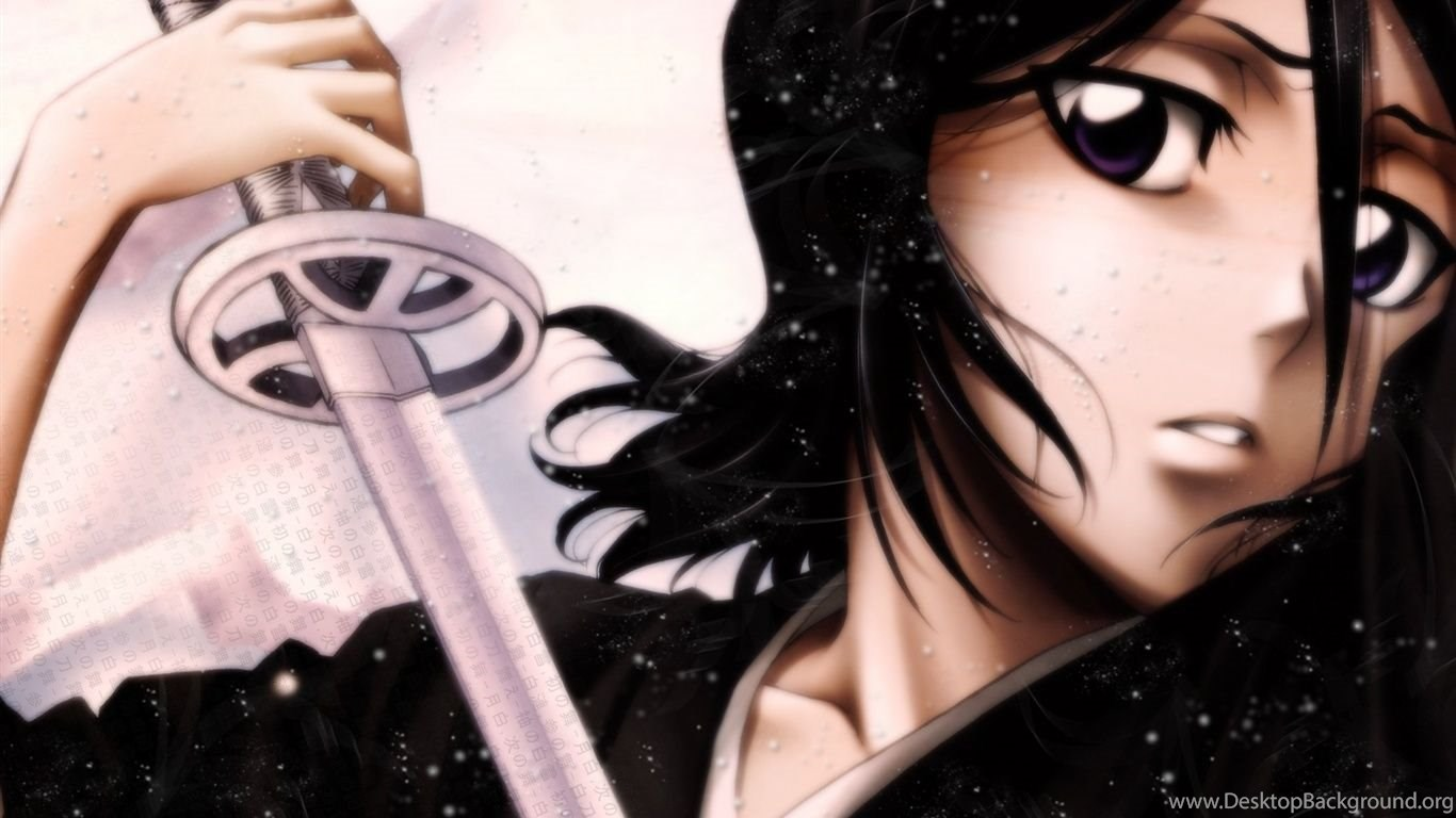 Black Hair Anime Girl Holding A Sword Wallpapers Desktop Background