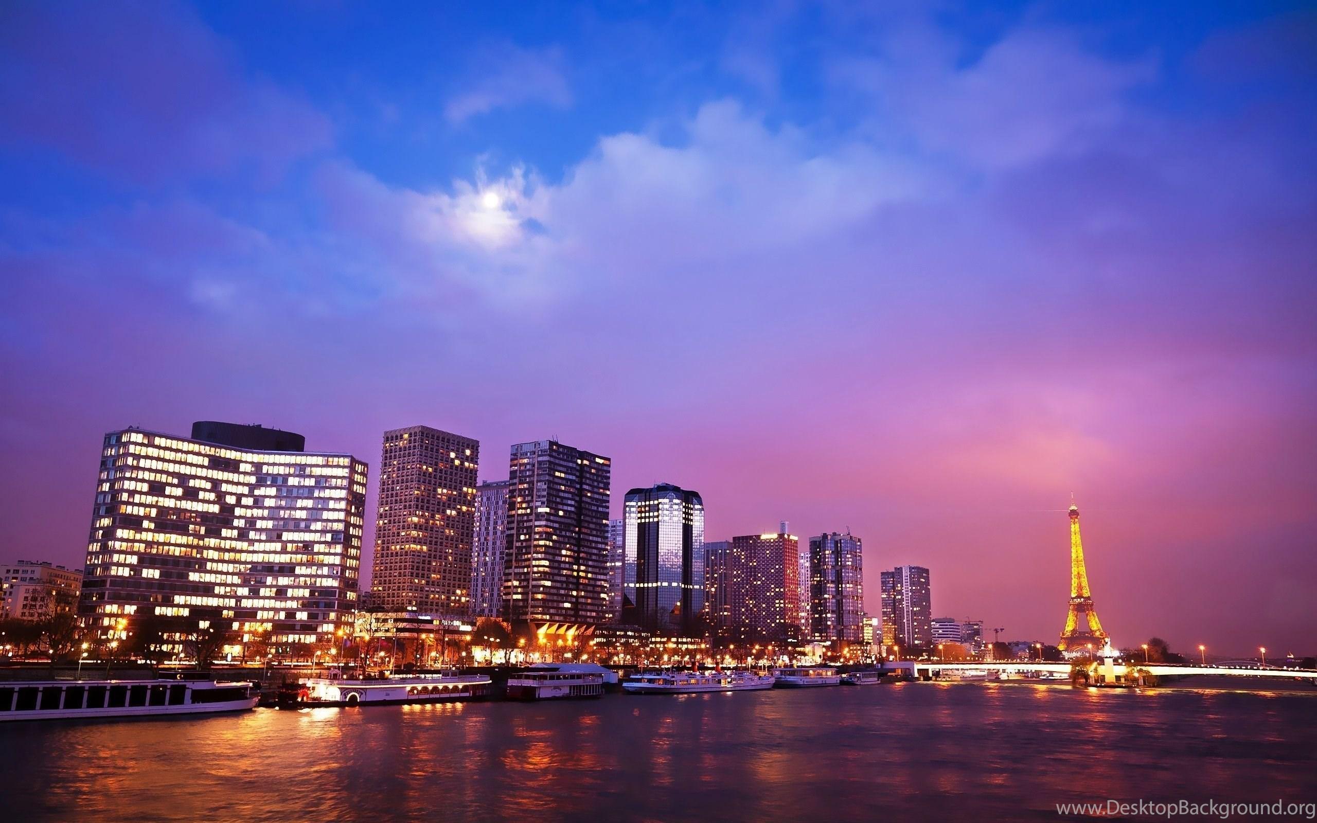 High Resolution Beautiful Paris City Night Wallpapers Hd 5 Desktop Background