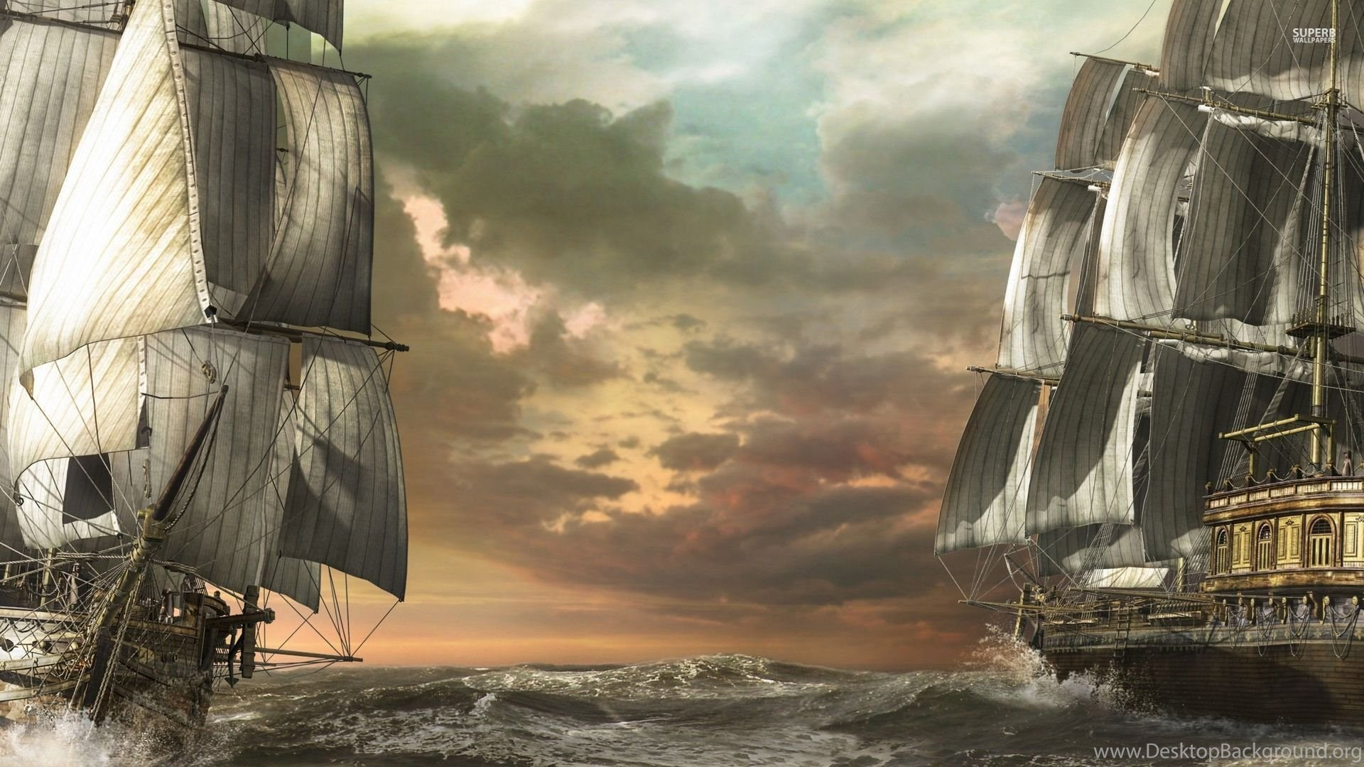 Top Pirate Ship Wallpapers 1920x1080 Images For Pinterest Desktop