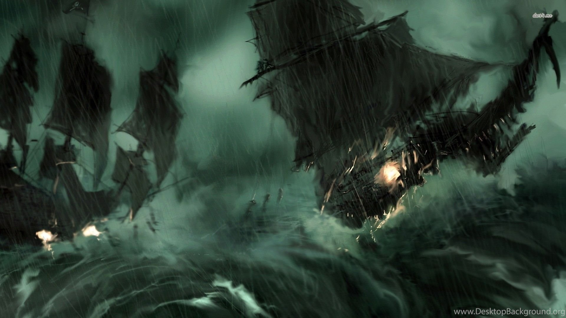 pirate ship during the storm wallpapers fantasy wallpapers desktop