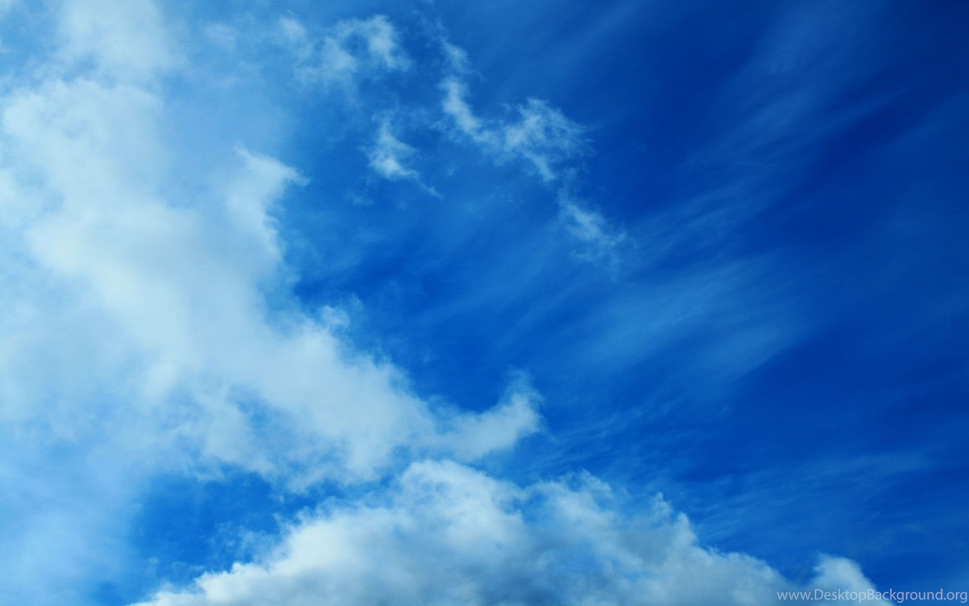 Full HD Wallpapers + Nature, Sky, Clouds, Blue Desktop