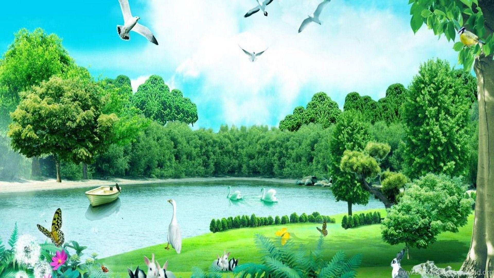 HD Forest Animals Summer Nature Wallpapers.jpg Desktop Background