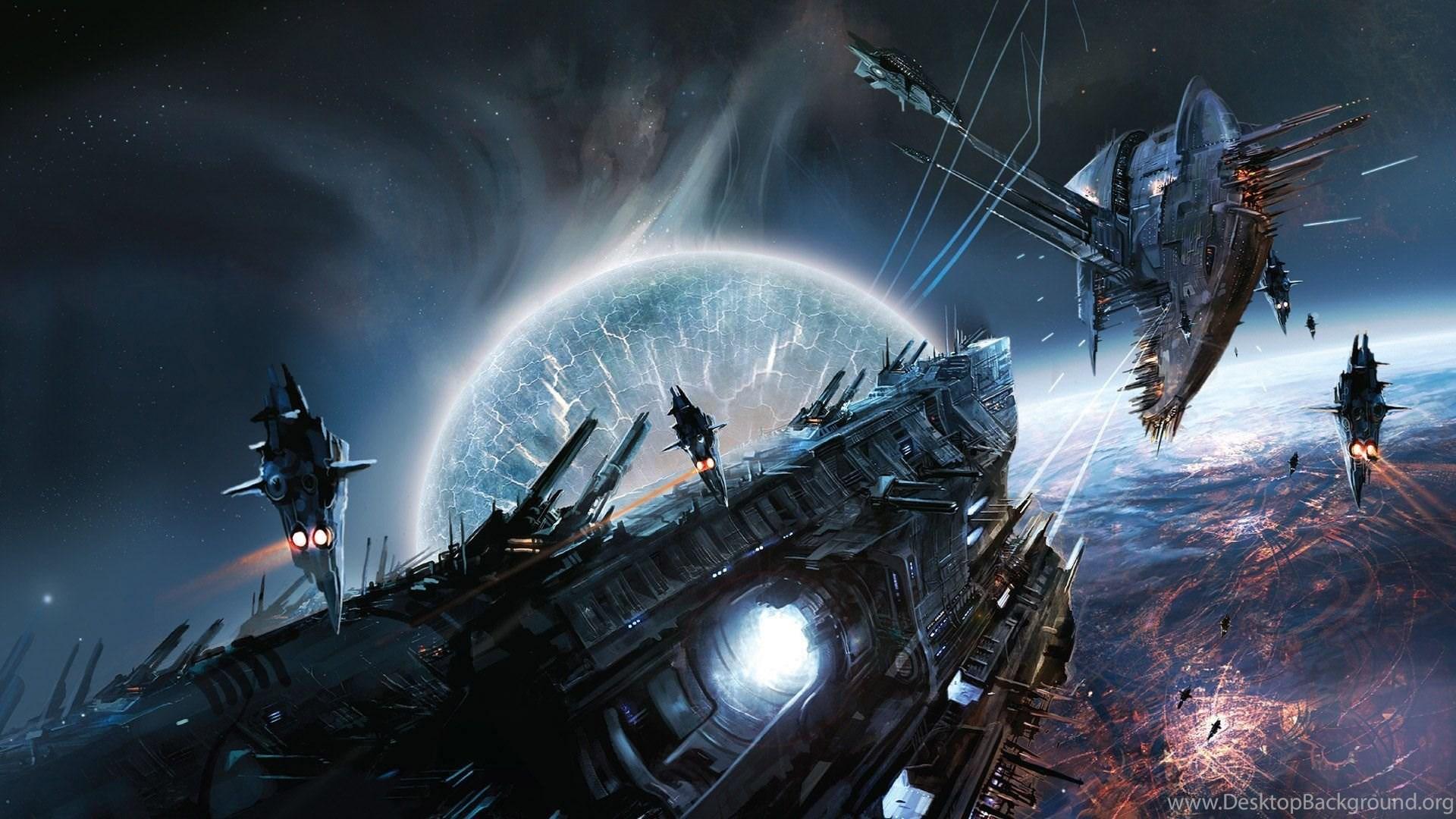 Space War Desktop Wallpaper Images Background