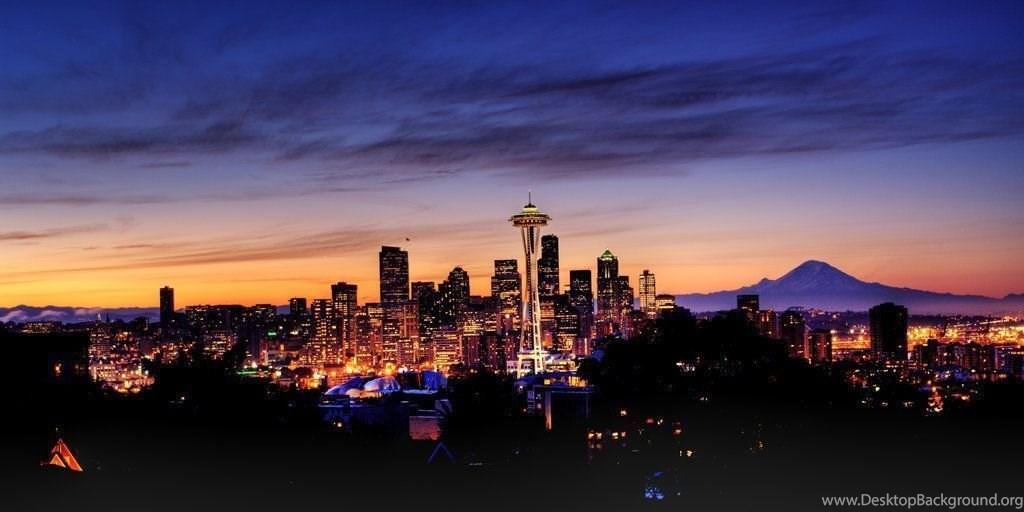 Seattle Skyline Wallpaper Desktop Background