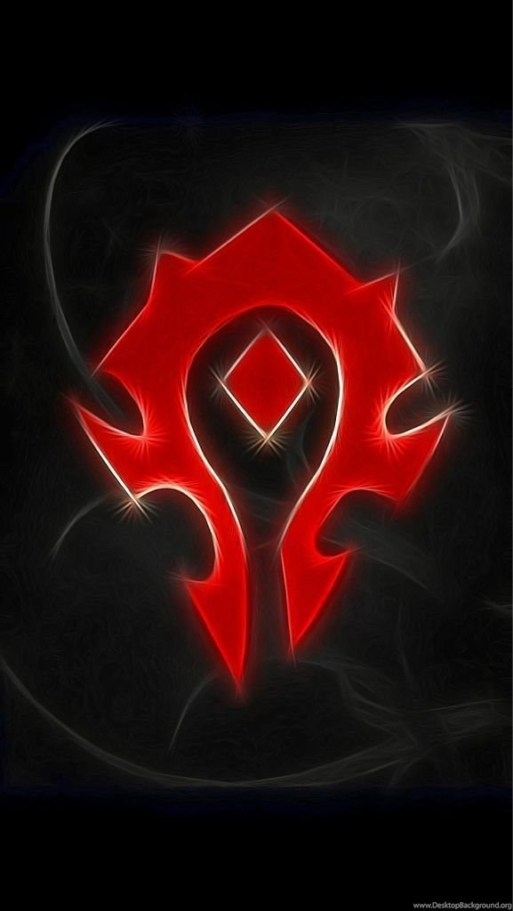Ran The Horde Symbol Through A Filter Really Like The Result Wow Desktop Background