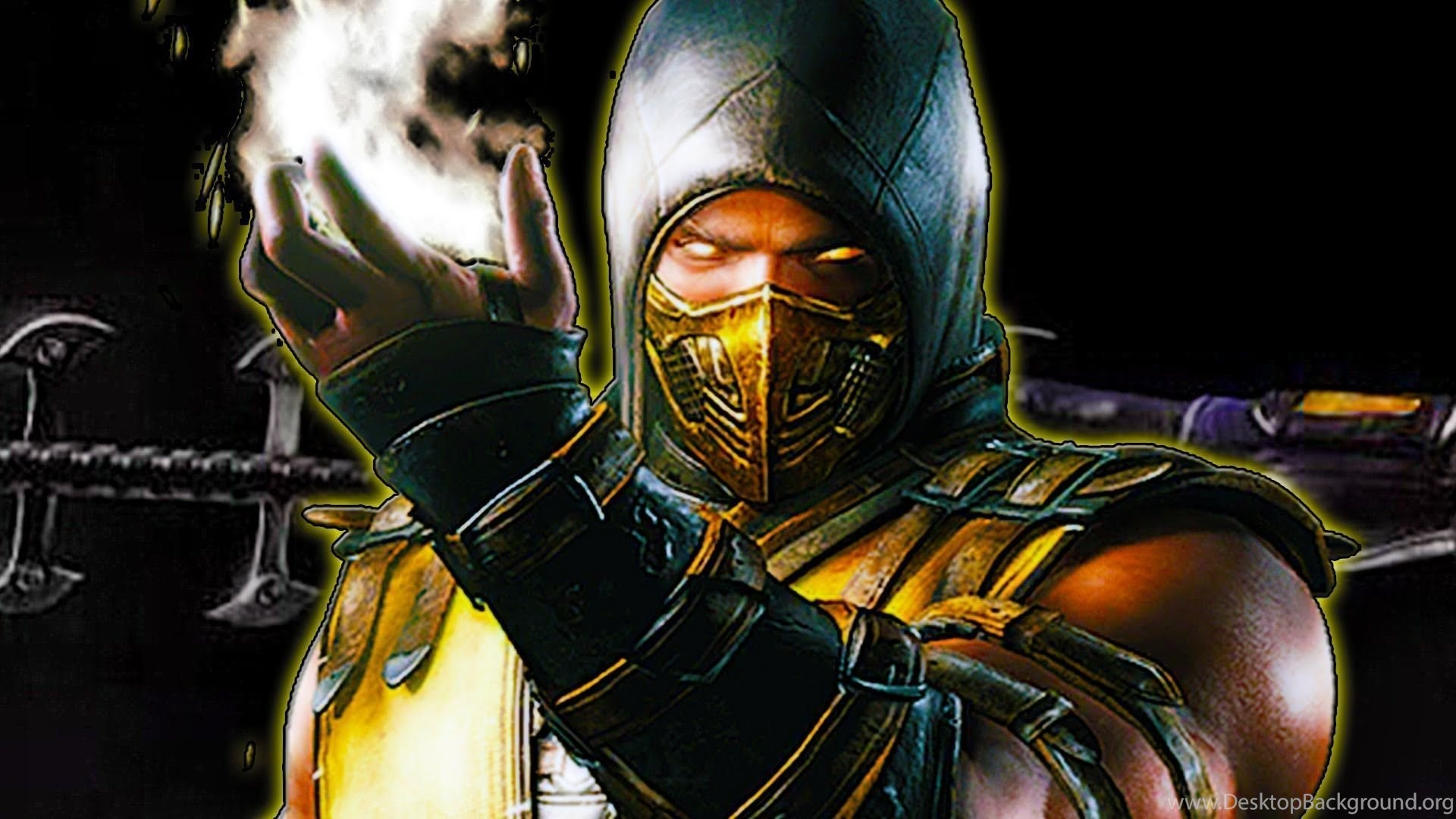 mortal kombat scorpion wallpapers high resolution desktop background