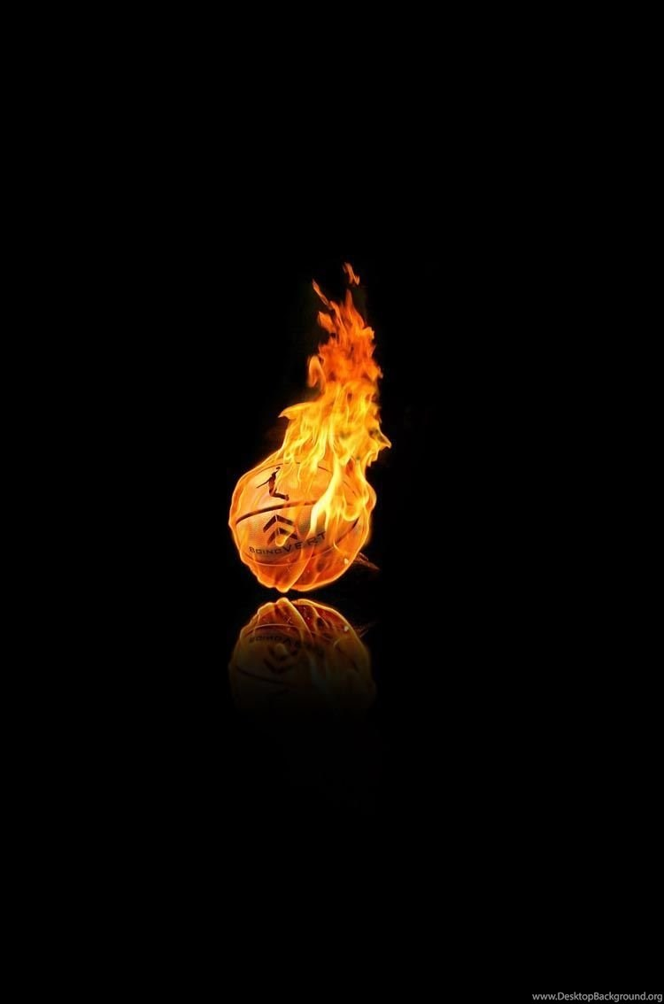 Basketball Fire Wallpapers For IPhone 6 Desktop Background