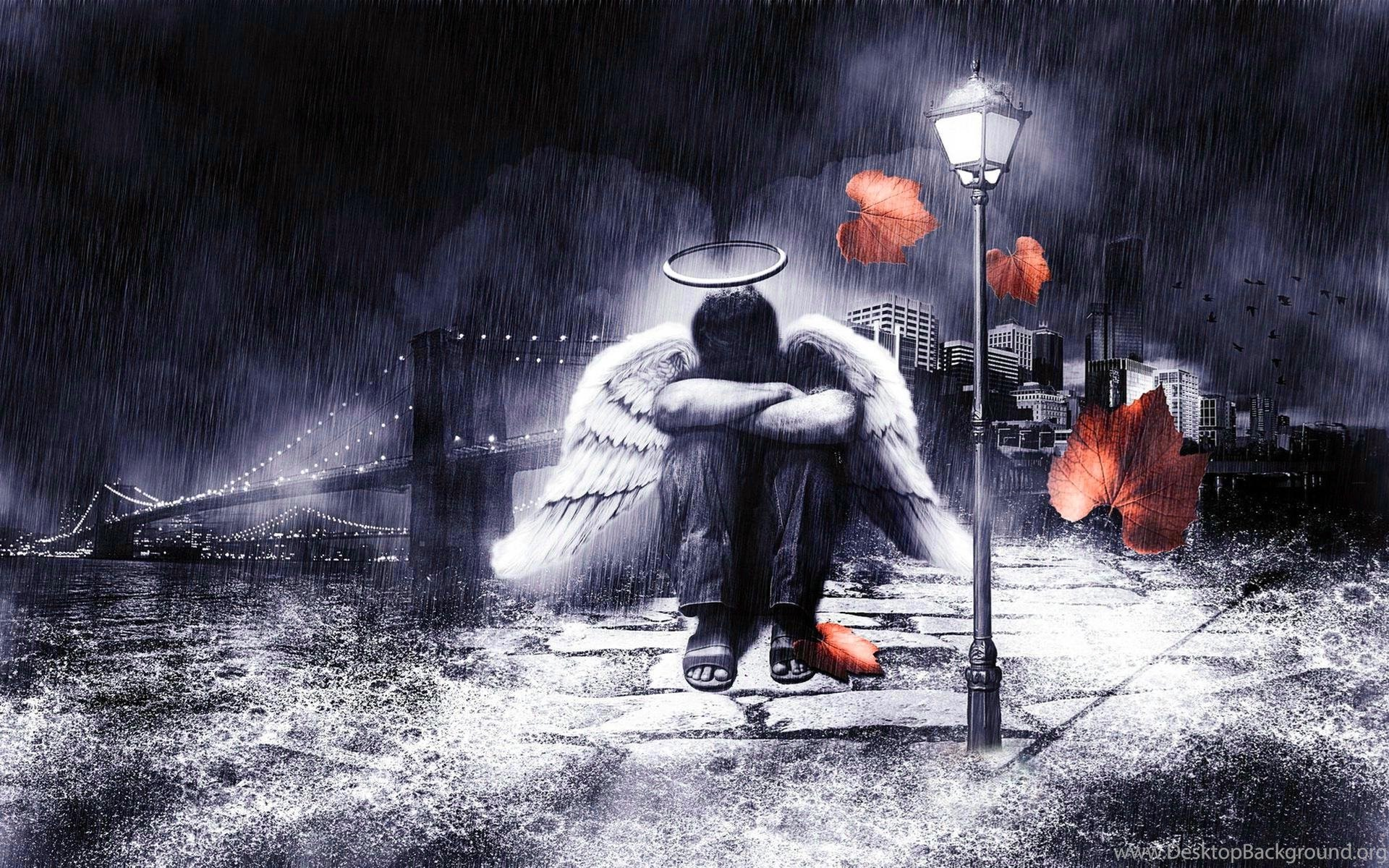 Sad Rain HD Backgrounds 7923 HD Wallpapers Site Desktop ...