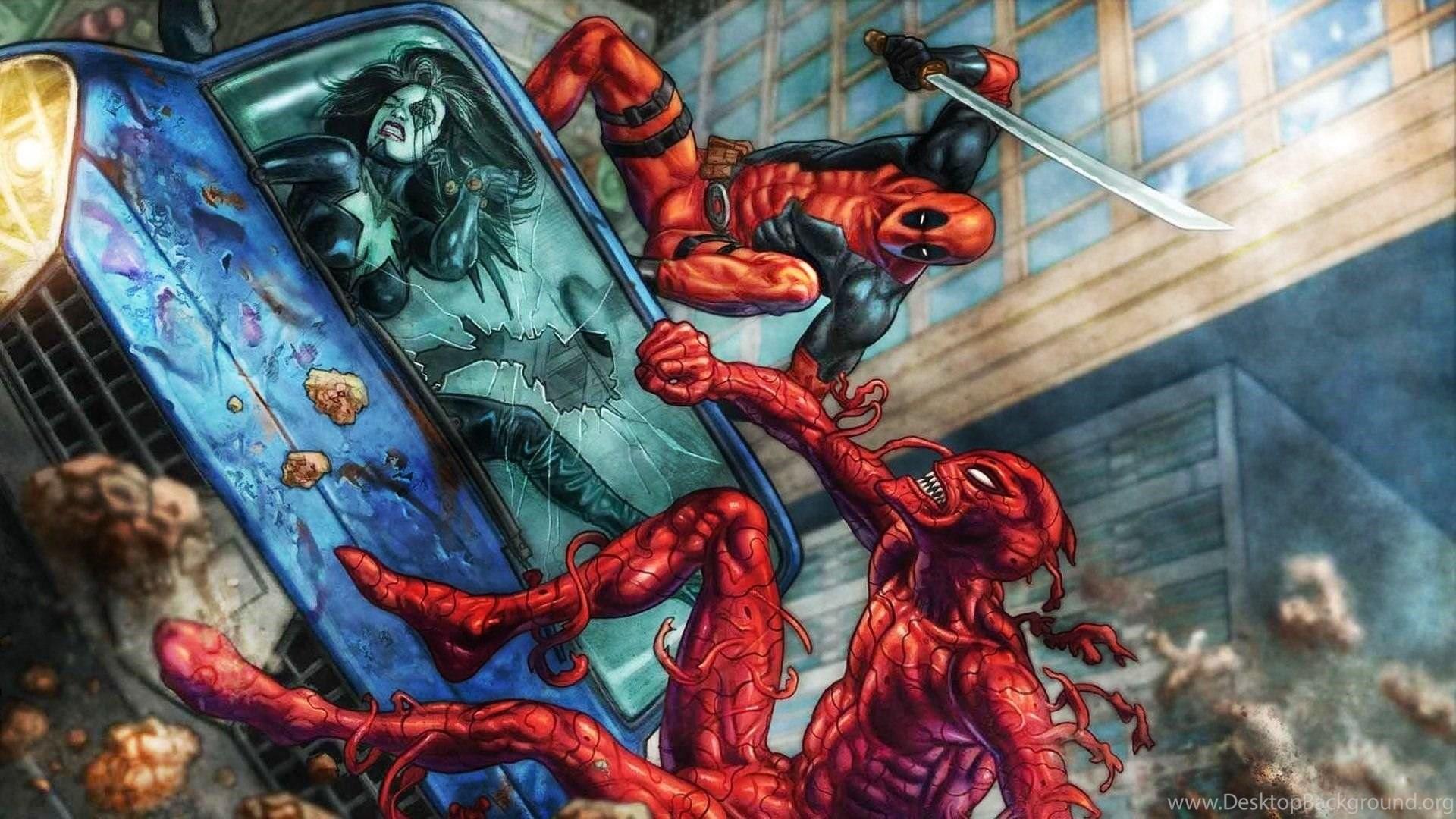Deadpool Vs Carnage Wallpapers Desktop Background